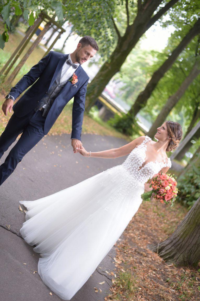Brautstyling romantisch